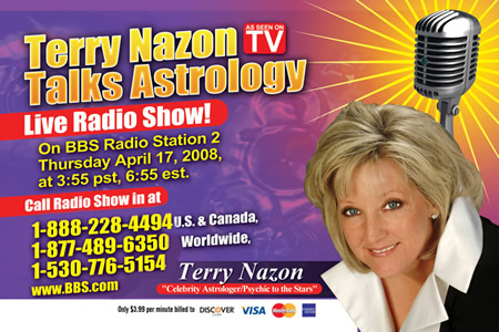 Saturn in Leo, by Terry Nazon, World Famous Astrologer, Psychic Call
