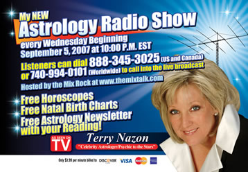 Terry Nazon, World famous Astrologer Psychic, Britney Spears